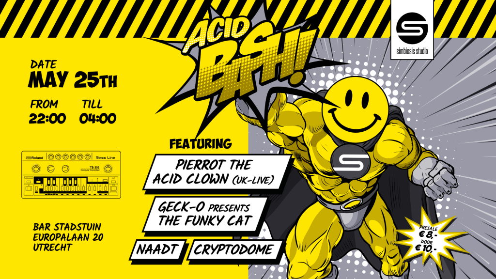 Acid Bash! A place where the new school acid sound mashes up with the oldskool acid sound